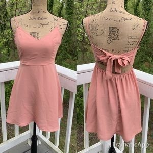 Forever 21 Peach Open Back With Bow Sundress   S